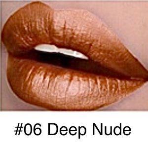 5/$25 NEW #06-Deep Nude Metallic Lasting Lipstick
